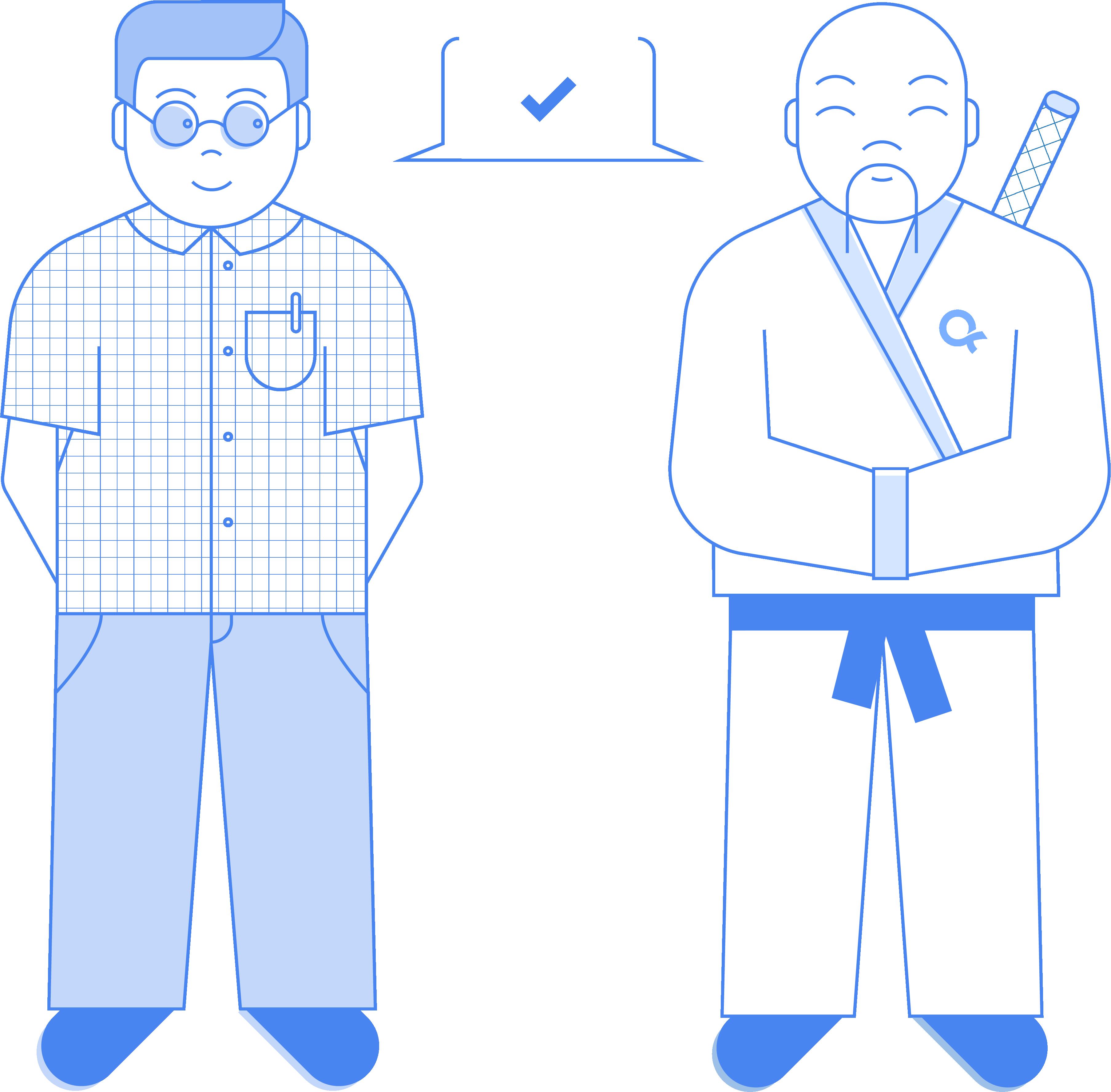 illustration glaubenssprung