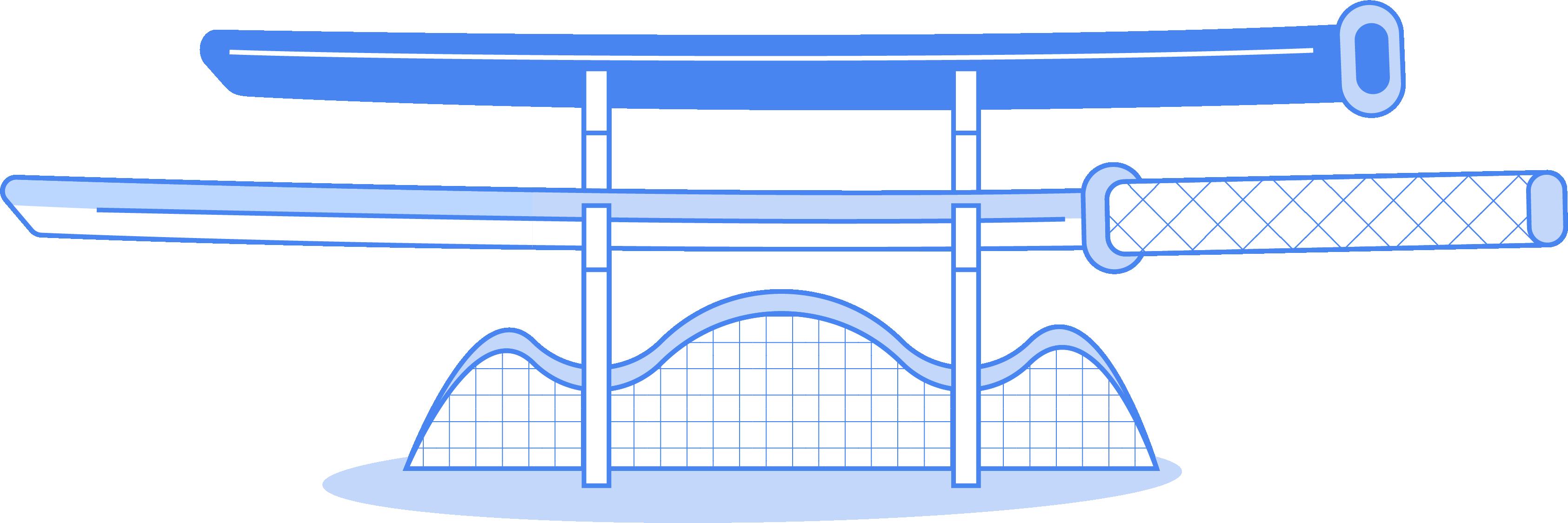 illustration schwert staender